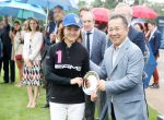 Won the Most Valuable Player Award at the theLaureus King Power Polo Cup , with Mr Vichai Srivaddhanaprabha, the Boss of Leicester City Football club