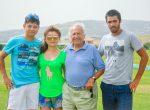 From Left: Joevy, Lovy, Patrick Hermes, Segundo Fernandez Llorente